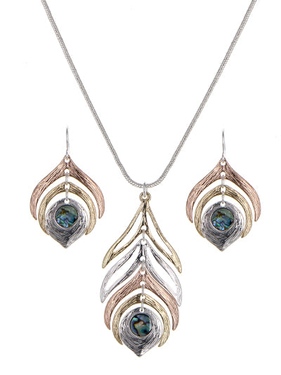 Peacock Earrings & Necklace Set