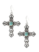 Cross Silver Color Earrings