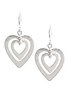 Matt Earrings Hearts