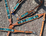 Turquoise Beaded Tack Set