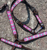 Pink Beaded Tack Set