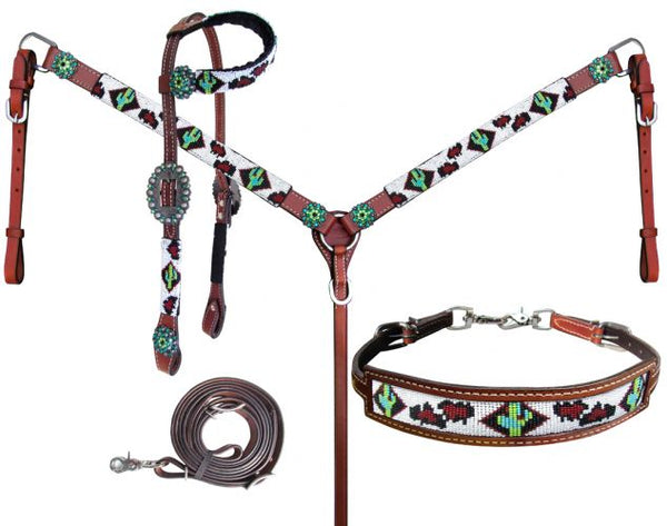 Cactus Beaded Tack Set