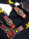 Sunflower Beaded Tack Set