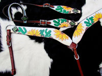 Painted Sunflower & Cactus Tack Set