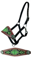 Beaded Cross Bronc Halter (Several Colors Available)