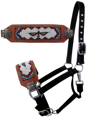 Thunderbird Beaded Bronc Halter
