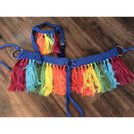 "Broke Cowgirl ""Rainbow"" Breastcollar"
