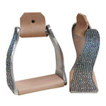 Crystal Rhinestone Twisted Stirrups
