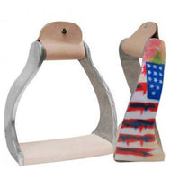 Distressed Flag Twisted Stirrups