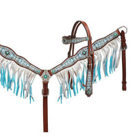 Ice Blue Diamond Fringe Tack Set