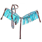 Metallic Teal Fringe Tack Set