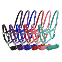 Nylon Halter 2-Ply & Cotton Lead (Several Colors Available)