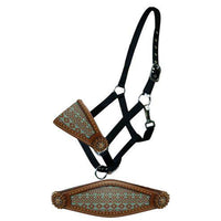 Teal & Brown Navajo Bronc Halter