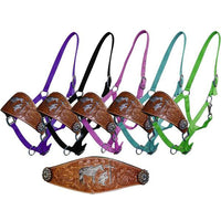 Tooled Praying Bronc Halter (Several Colors Available)