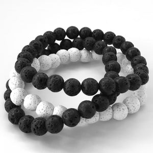Men's Black Lava Stone Bracelet