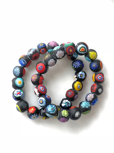 African Glass Flower Beads