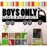 Boys only - Girls Keep Out:Wall Art StickerEndlessPrintsUK
