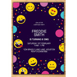 Emoji Confetti Party Birthday Invitations:EndlessPrintsUK