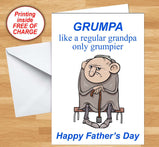 Grumpa - Father's Day Card:Greeting CardsEndlessPrintsUK