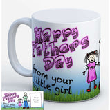 Happy Fathers Day - Daddy's Little Girl - Personalised Photo Mug:MugEndlessPrintsUK