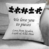 Love you to pieces Cushion:CushionEndlessPrintsUK