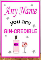 Personalised Pink Gin Print:Personalised Print