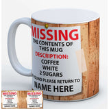 Personlised (name) drink revealed Mug:MugEndlessPrintsUK