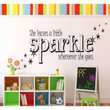 She leaves a little sparkle whereever she goes:Wall Art StickerEndlessPrintsUK