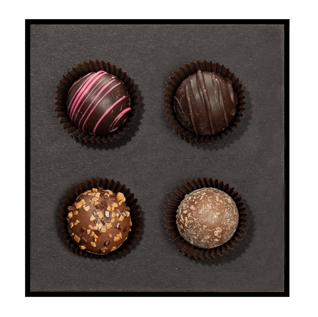 Signature Decadent Truffle Set - 4 Piece Assorted Truffles