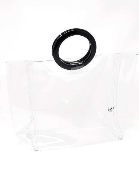 The Large Tote with Black Rings - SAX B