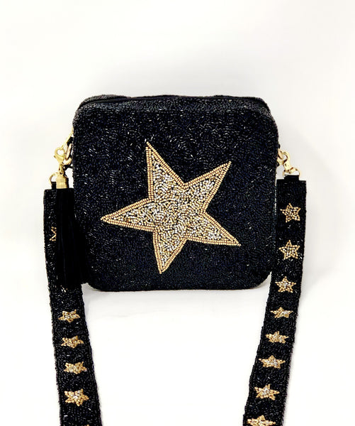Beaded Crossbody - SAX B