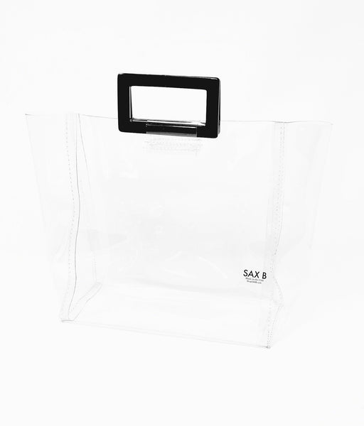 The Small Tote with Black Rectangle Handles - SAX B