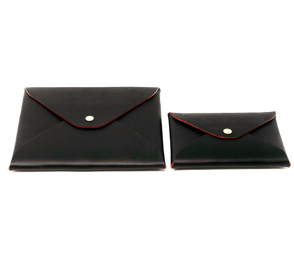 Envelope Pouch with Red Edge Paint - SAX B