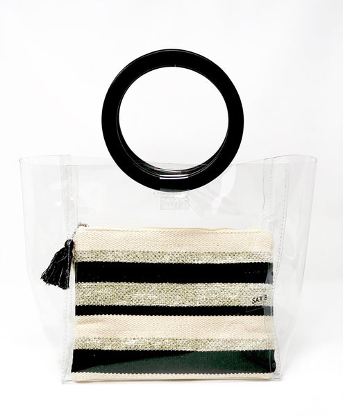 The Simply Striped Pouch - SAX B