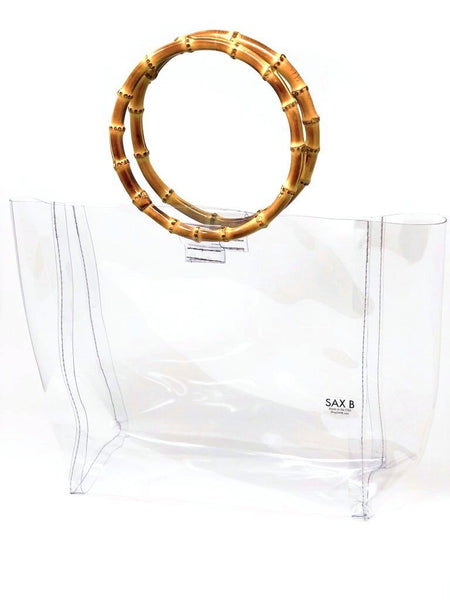 The Large Bamboo Tote - SAX B