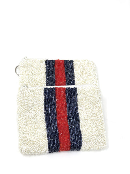 Double Stripe Pouch - SAX B