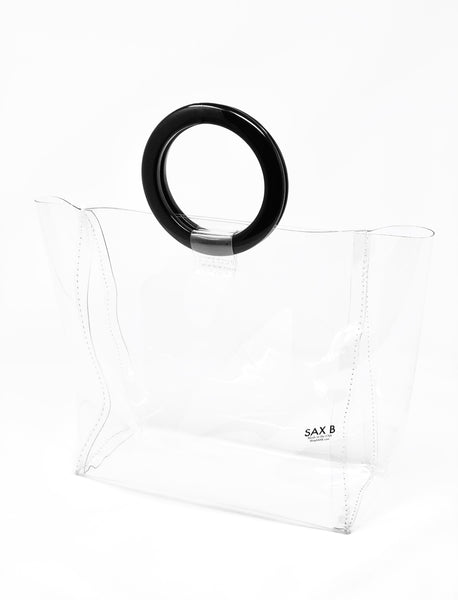 The Small Tote with Black Rings - SAX B
