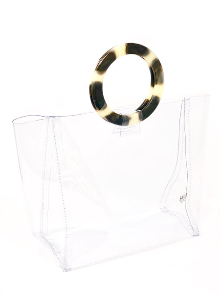 The Small Tote with Tortoise Rings - SAX B