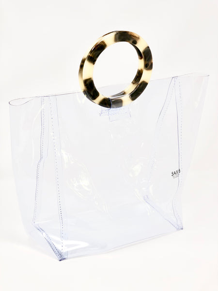 The Travel Tote with Tortoise Rings - SAX B