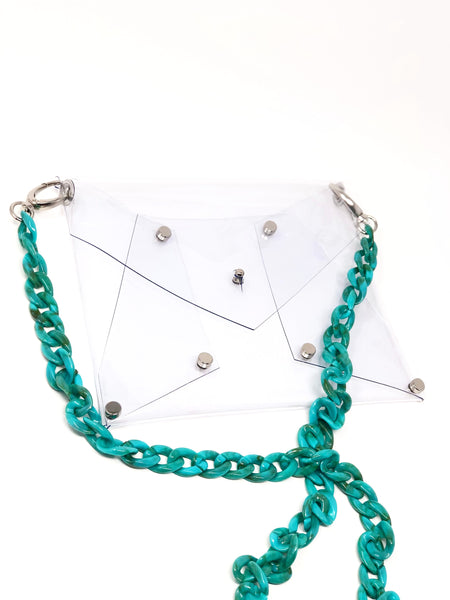Acrylic Chain Crossbody - SAX B