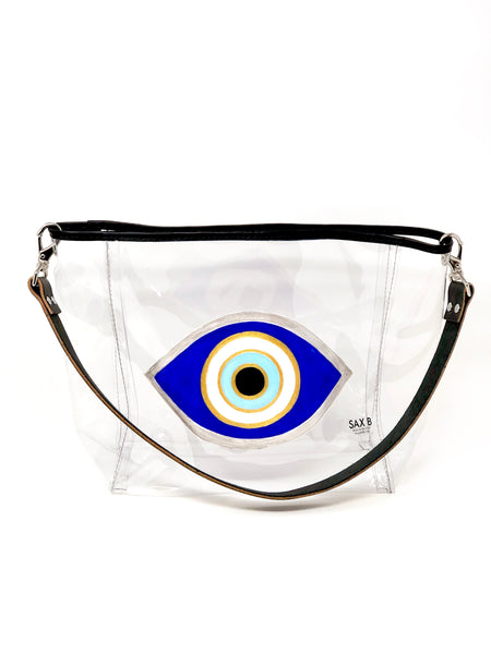 Evil Eye Painted Bucket Tote - SAX B