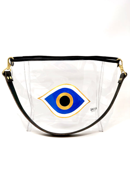 Evil Eye Painted Bucket Tote