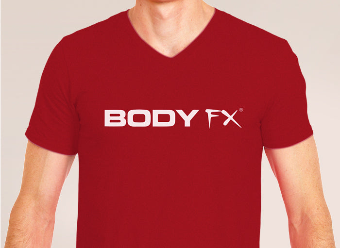 Unisex Body FX Red V-Neck T-Shirt