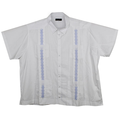 Copia de imdromst big and tall guayabera hei241 blanco