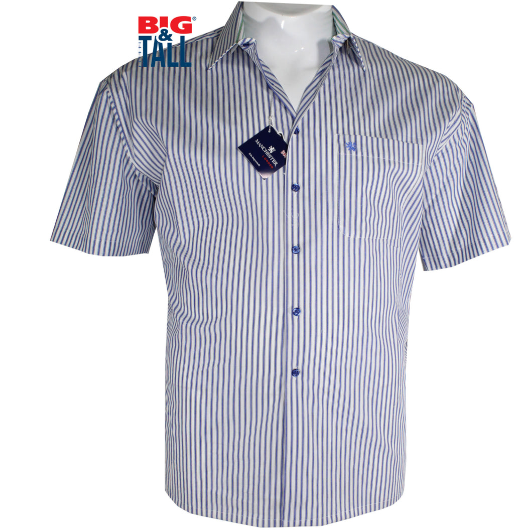 dromstore, Camisa Sport Talla Extra, Mod. MAN701 AZUL, BIG & TALL SHOP