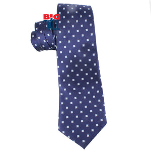 dromstore, CORBATA EXTRA LARGA MOD. HEI208 MARINO/BLANCO, BIG & TALL SHOP