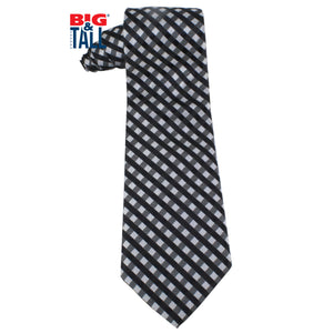 dromstore, CORBATA EXTRA LARGA MOD. HEI212 NEGRO/PLATA, BIG & TALL SHOP