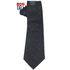 dromstore, CORBATA EXTRA LARGA MOD. HEI216 NEGRO/BLANCO, BIG & TALL SHOP