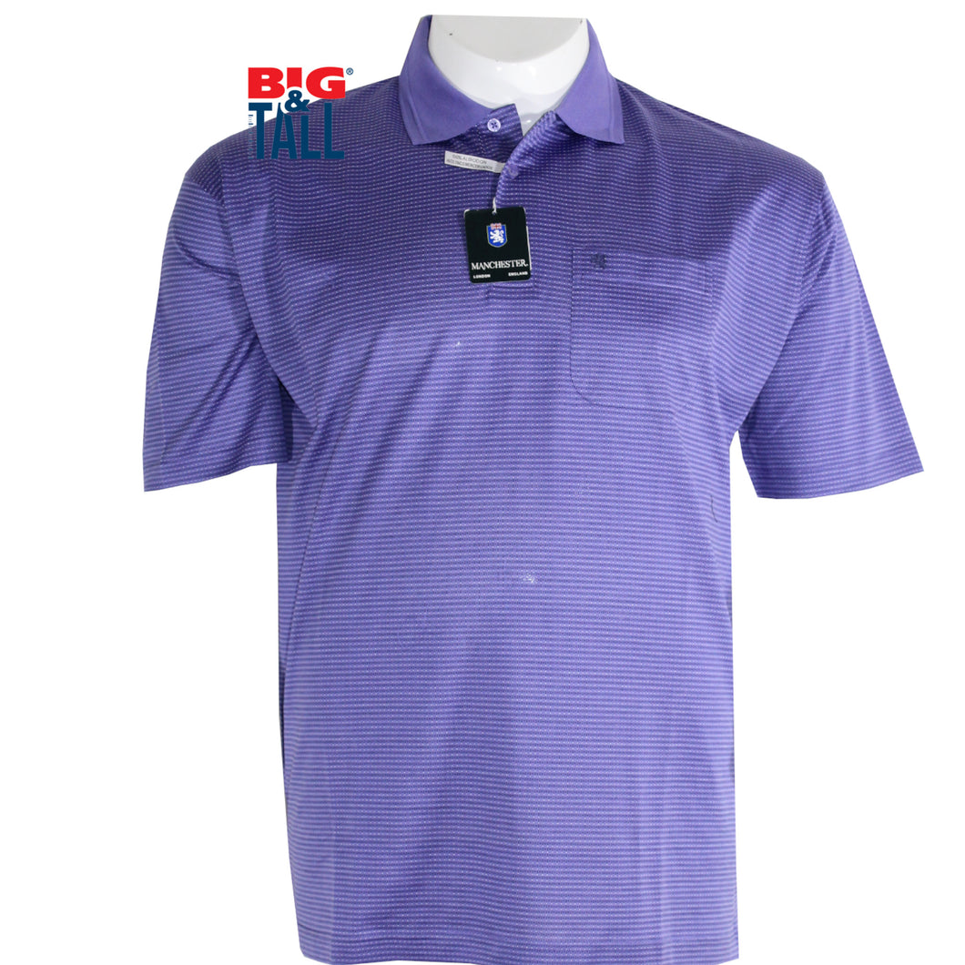 dromstore, Playera Tipo Polo MANCHESTER Talla Extra PURPURA Mod. MAN714, BIG & TALL SHOP