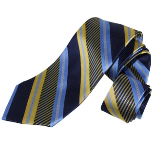 dromstore, CORBATA EXTRA LARGA MOD. HEI203 AZUL MARINO/ORO, BIG & TALL SHOP.